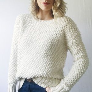 American Eagle Thick Cream Chunky Sweater
